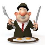 Prima colazione dell'uomo d'affari. Immagine Stock