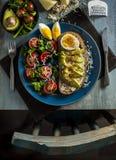 Prima colazione dell'uovo dell'avocado Fotografia Stock Libera da Diritti
