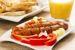 Prima colazione della salsiccia di Francoforte, Fotografia Stock