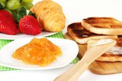 Tabella di prima colazione Fotografie Stock