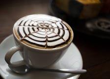 Prima colazione di arte del Latte di mattina Immagine Stock