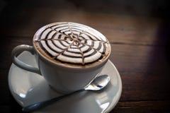 Prima colazione di arte del Latte di mattina Immagini Stock