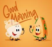 Prima colazione di buongiorno Fotografia Stock