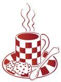 Prima colazione di caffè e del biscotto illustrazione di stock