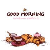 Prima colazione di Delicios Fotografia Stock