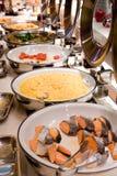Prima colazione di lusso del buffet Immagine Stock Libera da Diritti