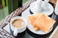 Prima colazione di mattina Fotografia Stock