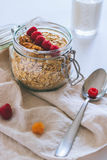 Prima colazione di mattina, farina d'avena Immagine Stock Libera da Diritti