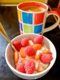 Prima colazione e caffè Fotografia Stock Libera da Diritti