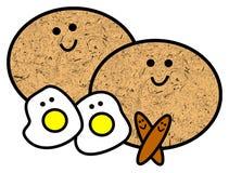 Prima colazione felice illustrazione vettoriale