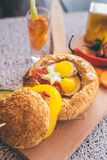 Prima colazione francese Immagini Stock