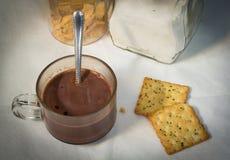Prima colazione fresca con cioccolato Immagine Stock Libera da Diritti