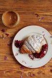 Prima colazione fresca e taisty in uno stile country Fotografie Stock