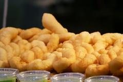 Prima colazione fritta in grasso bollente del doughstick fotografia stock libera da diritti