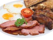 Prima colazione fritta inglese piena Fotografia Stock