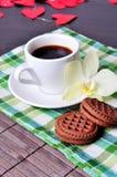 Prima colazione il giorno del biglietto di S. Valentino s Fotografia Stock Libera da Diritti