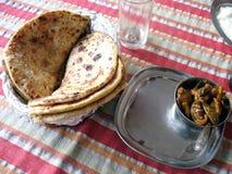 Prima colazione indiana Immagini Stock