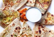 Prima colazione indiana Fotografia Stock