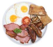 Prima colazione inglese cucinata Immagine Stock Libera da Diritti