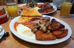 Prima colazione inglese piena Fotografia Stock