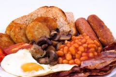 Prima colazione inglese piena Fotografie Stock Libere da Diritti