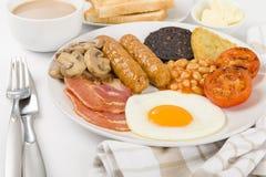 Prima colazione inglese piena Immagini Stock