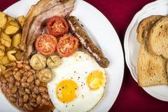 Prima colazione inglese piena Fotografie Stock