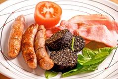 Prima colazione irlandese piena Fotografia Stock Libera da Diritti