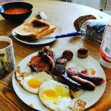 Prima colazione irlandese sudicia immagini stock