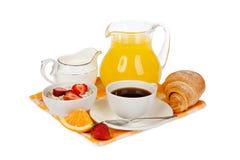 Prima colazione isolata Fotografia Stock