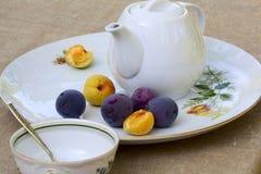 Prima colazione leggera di estate Fotografia Stock