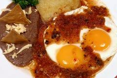 Prima colazione messicana Fotografia Stock