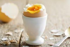 Prima colazione molle dell'uovo sodo Fotografia Stock