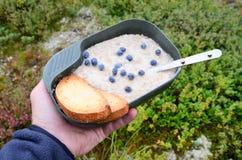 Prima colazione nella natura Fotografia Stock Libera da Diritti