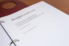 Prima colazione nella vostra stanza Fotografia Stock Libera da Diritti