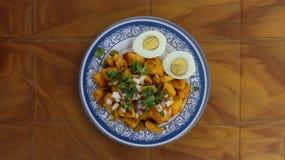 Prima colazione nepalese fotografia stock libera da diritti