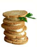 Prima colazione - pani tostati Crunchy fotografie stock libere da diritti