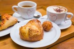 Prima colazione per due al forno Fotografia Stock