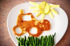 Prima colazione per i bambini Fotografie Stock