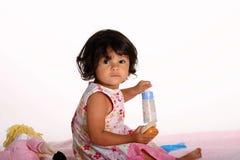 Prima colazione per la bambola Fotografia Stock