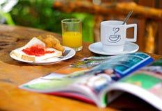 Prima colazione piena deliziosa Fotografia Stock Libera da Diritti