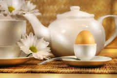 Prima colazione piena di sole di mattina Fotografie Stock