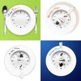 Prima colazione, pranzo, concetto di tempo di pranzo Fotografie Stock