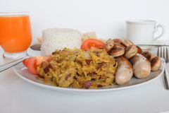Prima colazione, prima colazione semplice, prima colazione asiatica, prima colazione filippina, prima colazione filippina tradizi Fotografia Stock