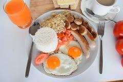 Prima colazione, prima colazione semplice, prima colazione asiatica, prima colazione filippina, prima colazione filippina tradizi Fotografia Stock Libera da Diritti