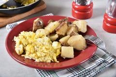 Prima colazione riscaldata sul posto fotografia stock