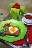 Prima colazione romantica Immagine Stock