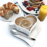 Prima colazione romantica Fotografia Stock