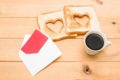 Prima colazione romantica Fotografie Stock Libere da Diritti