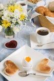 Prima colazione romantica Immagini Stock